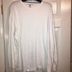 Saddlebred Men's white knit long sleeve shirt XL